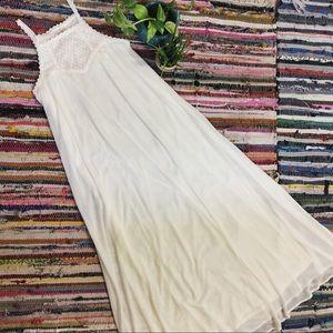 NWT Flying Tomato White Lace Maxi Dress